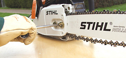 Chain side tensioning in 15 easy steps stihl stihl step 10 of 15 now tighten up the tensioning screw until there is very little keyboard keysfo Image collections