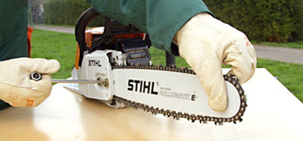 Chain side tensioning in 15 easy steps   STIHL   STIHL